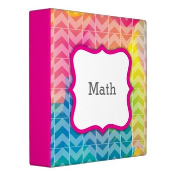 Swirly Paint Personalized 3-ring Binder