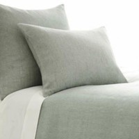 Manor Fine Wares: Chambray Linen Ocean Euro Sham