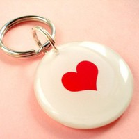 Sending Love to Japan Key Chain or Pet Tag | metamorphdesigns - Pets on ArtFire