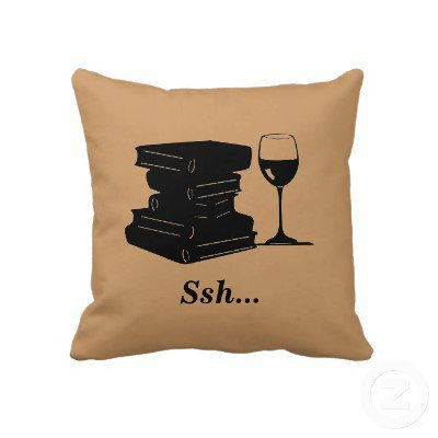 Wine and Books Pillow from Zazzle.com