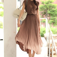 Bohemia Pleated Maxi Dress