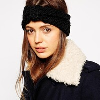 ASOS Turban Headband In Wool Mix Moss Stitch
