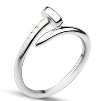 Geminis Jewelry New Design Stainless Steel Nails Style Women's Ring Finger Band