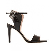 Black Leather Sandals - Isabelle by De Siena