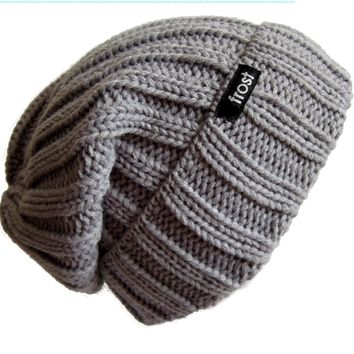Frost Hats Fall Winter Unisex Slouchy Rolled Cuff Hat Beanie