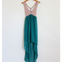 Cross Back High Low Dress