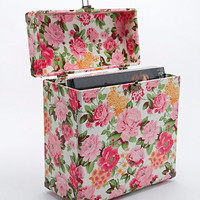 "Crosley 12"" Record Carrier Case in Floral - Urban Outfitters"