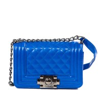 Royal Blue Quilted Touch Mini Purse @ Cicihot Handbags online store sales:Women's handbag,Cheap handbags,Oversize handbag,Leather handbag,Handbag Purse,Leather tote,Suede Bag