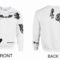 Unisex Crewneck Sweatshirt Zayn Malik Tattoos One Direction 1D