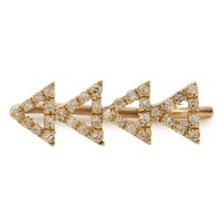 SMITH+MARA Pave Diamond Cutout Triangle Ear Crawler