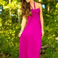 One You Won't Forget Maxi Dress-Berry