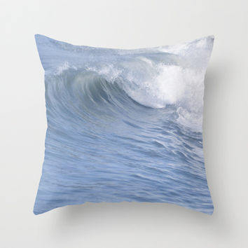 Wave Watching Throw Pillow by Lisa Argyropoulos | Society6