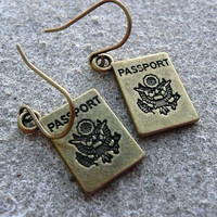 Passport Earrings