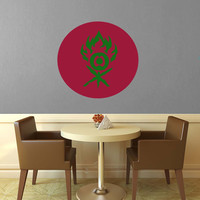 Gruul Symbol - Ravenica - Magic the Gathering Wall Decal - Layered Full Color