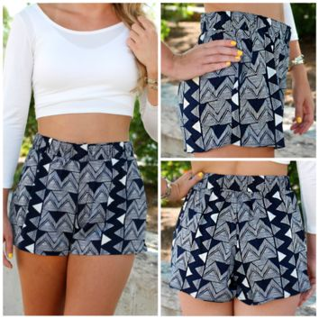 Take A Chance Shorts - Navy