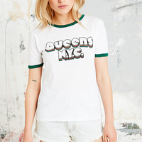Truly Madly Deeply Queens NYC Tee in White - Urban Outfitters