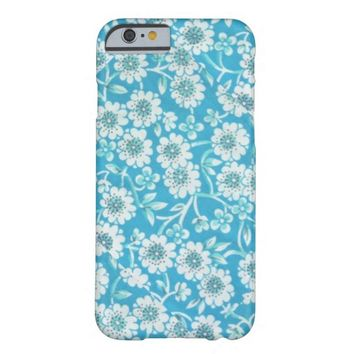 Dainty Vintage Blue Floral iPhone 6 case
