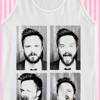 Aaron Paul funny faces for Tank Top Mens and Tank Top Girls