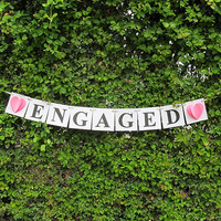 Engagement Sign / Engaged Banner/ Engagement Banner/ Wedding Banner / Wedding Sign / Engaged Sign