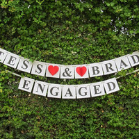Engagement Banners / Engagement Sign /  Engagement Banner / Wedding Banner / Wedding Sign / Engaged Sign / Engagement Sign