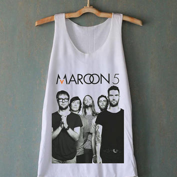Maroon 5 Band Adam Levine for tank top mens and tank top girls