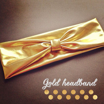 Metallic Gold  Turban headband
