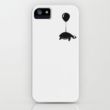 Turtle ups and leaves iPhone   iPod Case by Tom Reinert