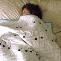 Organic Sheet Music Quilt - Amazing Grace - Pure and Natural, Modern Quilt