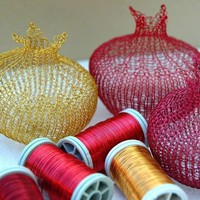 Wire Pomegranates GIFT KIT by Yoola on Etsy