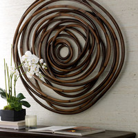 Wooden Swirl Wall Decor