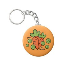 Peas And Carrots Keychain from Zazzle.com