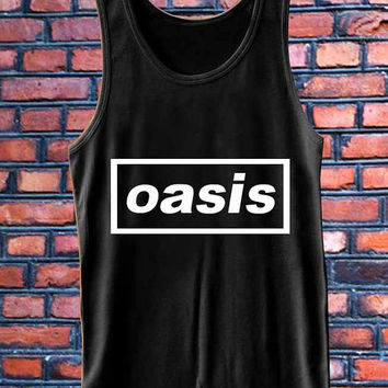oasis band logo   best Tank Top Mens and Girls