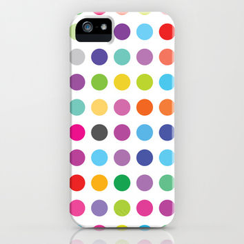 Colourful Dots  iPhone & iPod Case by Ornaart