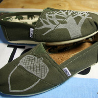 Acorn Oak Tree TOMS Shoes