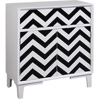 Colorful Chevron Black Accent Cabinet