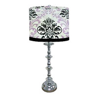 Paige Lilac Black Lamp
