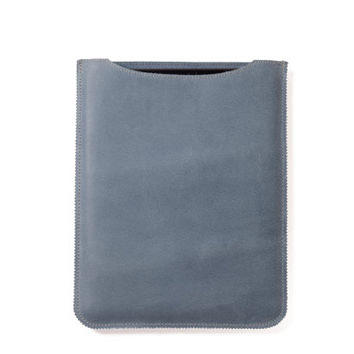 Leather iPad case, iPad sleeve in light blue