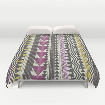 Tribal Triangles Duvet Cover by Bohemian Gypsy Jane | Society6