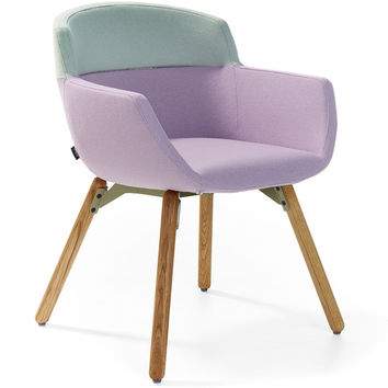 mood 4 leg wood frame chair