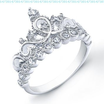925 Sterling Silver Princess Crown RingAmazonJewelry