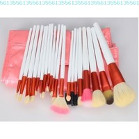 20pcs White Professional Cosmetic Makeup Make up Brush Brushes Set Kit With Pink Bag Case:Amazon:Beauty