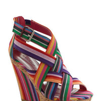 Moveable Stripe Wedge | Mod Retro Vintage Wedges | ModCloth.com