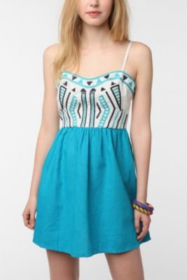 Staring at Stars Color Pop Embroidered Sundress