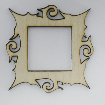 Funky Frame Laser Cut Unfinished Wood Shapes  Variety of Sizes Craft Supply DIY 71