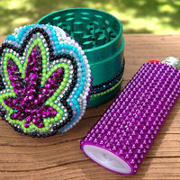 GRINDER -- Hippie Purple Pot Leaf