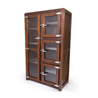 Bucher Wood and Glass Wardrobe