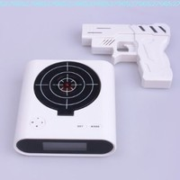 Laser Target Gun Alarm Clock with LCD Screen:Amazon:Home & Kitchen