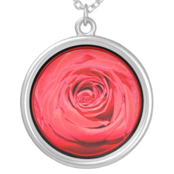 Red rose custom necklace