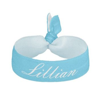 Pool Party Blue Personalized Hair Tie