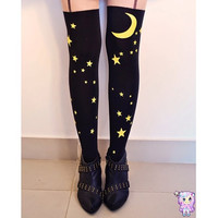 SALE Sailor Moon Stars Bow Knee High Hosiery Pantyhose Tattoo Socks Leggings Tights Stockings